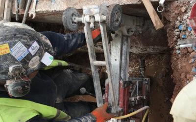 Core Drilling Through Ring Beams